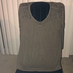 Olive green cotton blouse in like new condition